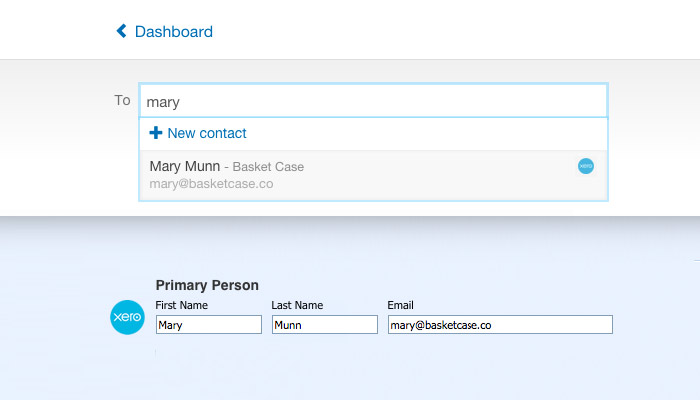 Lookup Contacts from Xero
