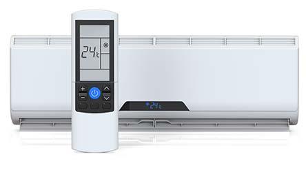 Modern indoor heat pump unit with remote