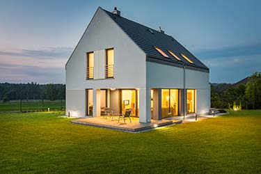 Modernized version of countryside family home, designed by an architect to perfectly suit surrounding landscape