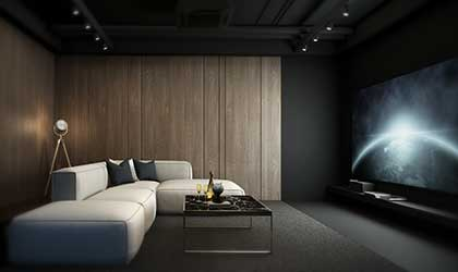 Luxury home theater - dark