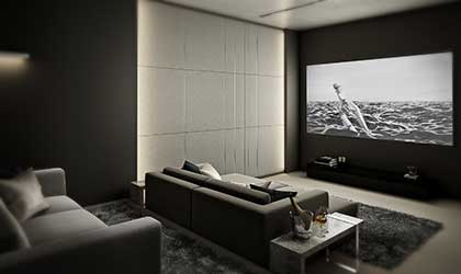 Luxury home theater - light