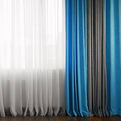 Stylish muslin cotton curtains, custom made in fashionable colors