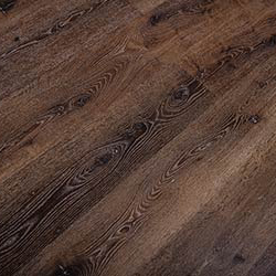 Rich dark red reclaimed oak lumber wood grain flooring