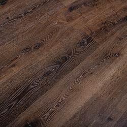 Rich dark red reclaimed oak lumber wood grain flooring