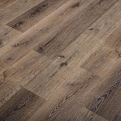 Earthy brown reclaimed oak lumber flooring with knots