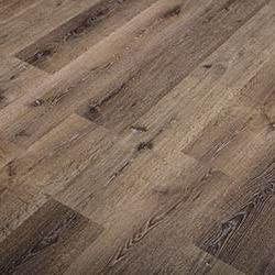 Earthy brown reclaimed oak lumber flooring with knots