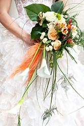 Bouquet mix of flower and foliage