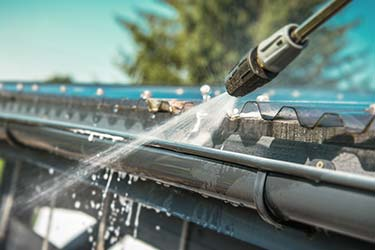 Gutter cleaning process