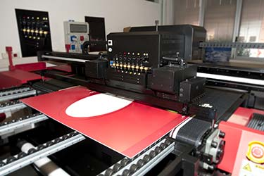 Wide format printing of promotional posters