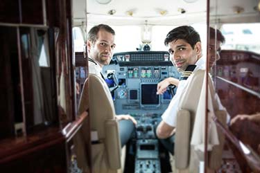 Our pilots in cabin