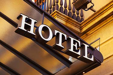 Quality 3D signage for classy and stylish hotel front
