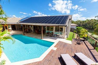 Poolside solar
