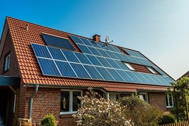 Solar panels retrofit to old house