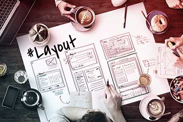 Brainstorming a website layout