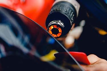Heat gun for perfect finish